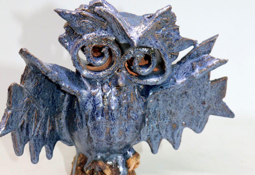 Skulptura Plava sova