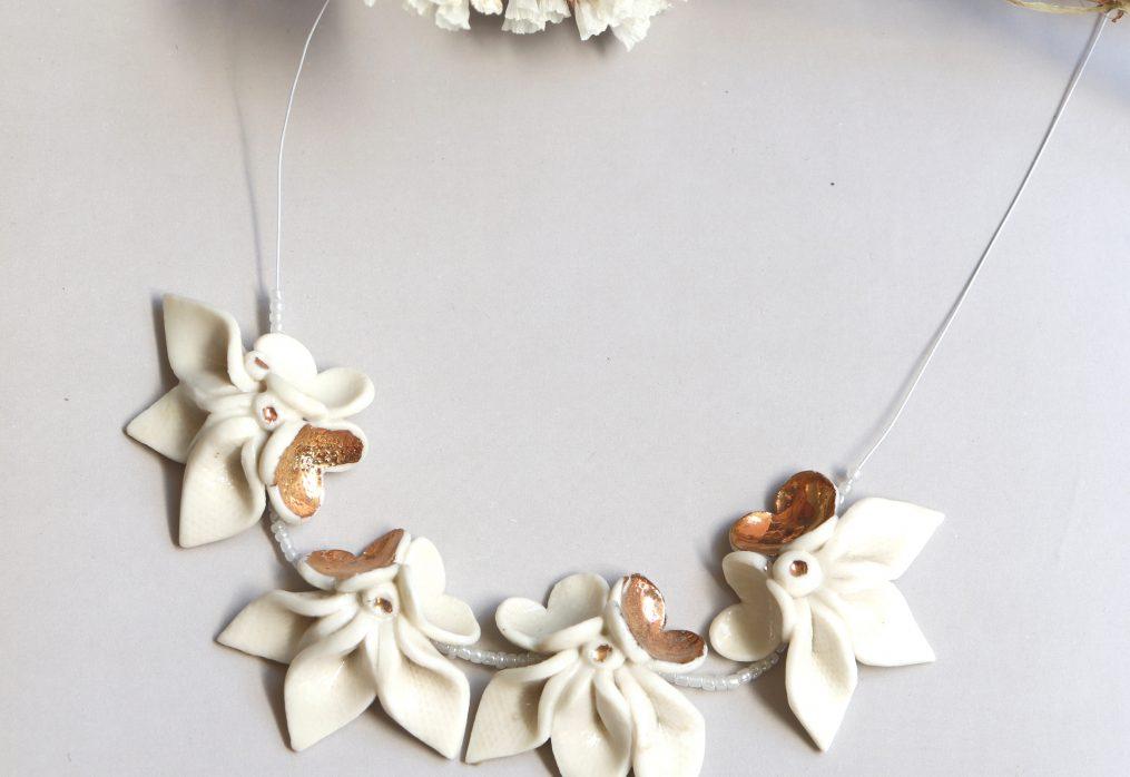 Ogrlica Cvijet. Flower necklace.